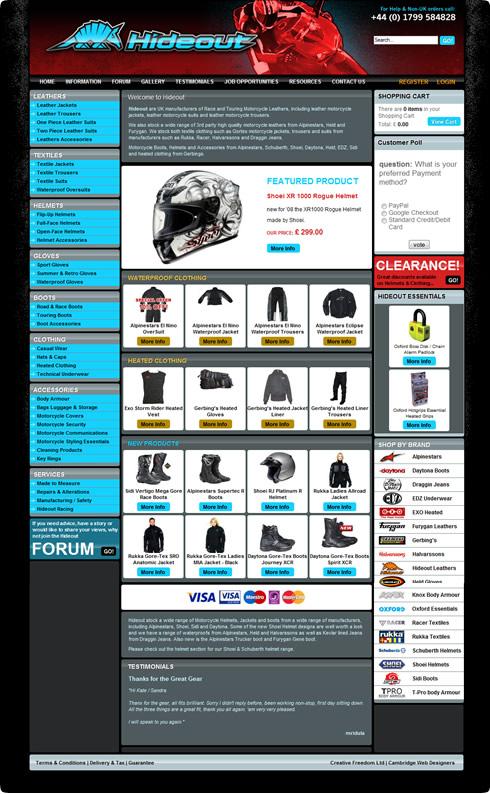 Ecommerce Website Designers - Online Ecommerce Web Shop for Hideout ...