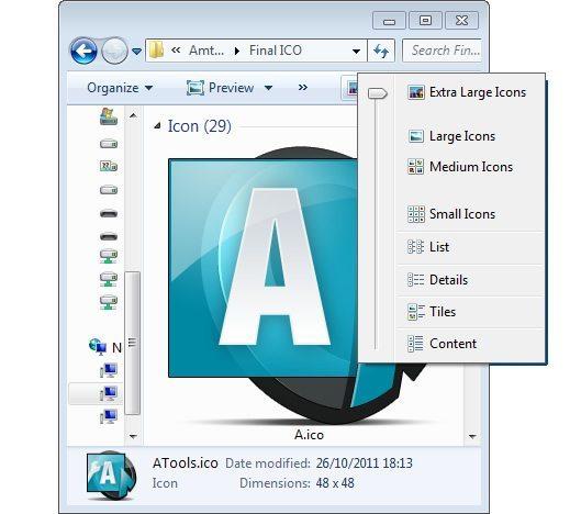 Windows 7 Icon Sizes