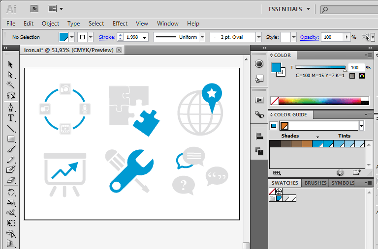 Quickly changing Icon Color in Illustrator
