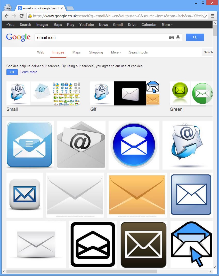 Email Icon, Google Image Search