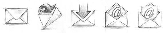Email Icon Sketches