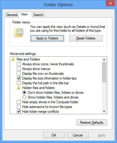 Windows 8 Thumbnails Missing