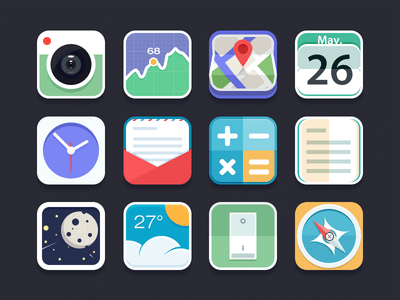 Almost Flat Icons