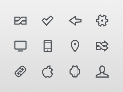 Flat Android UI Icons