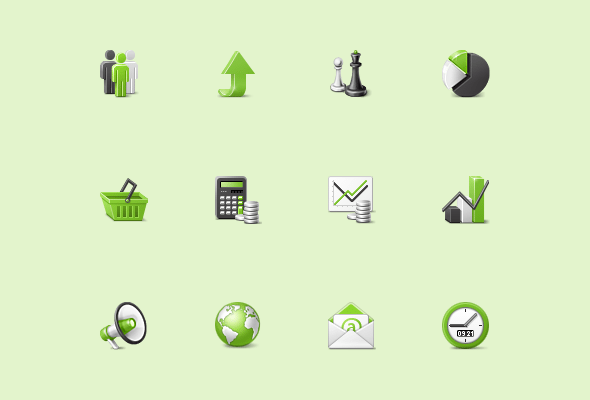 Financial Custom Icons for Web Software