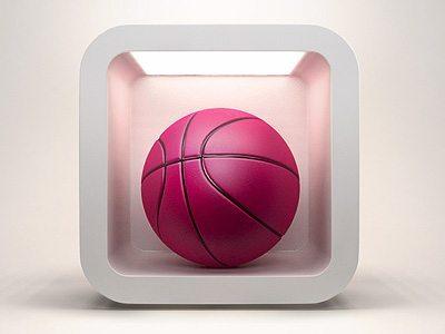 3D Dribbble Icon