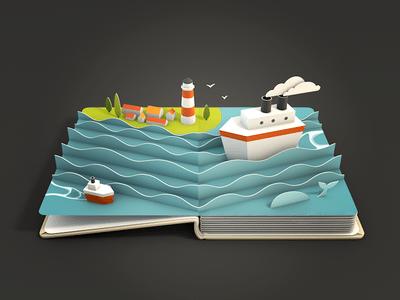 3D Boat Icon