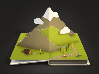3D Landscape Icon