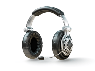 3D Headphones Icon