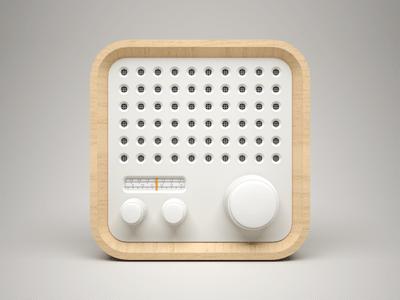 3D Radio App Icon