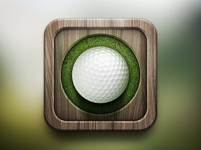 3D Golf Icon
