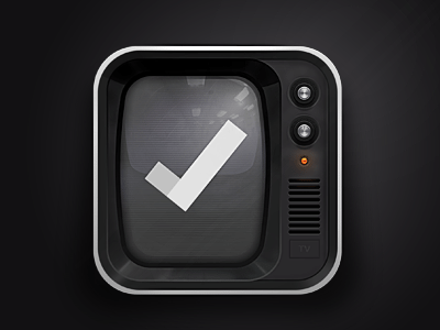 3D Retro TV Icon
