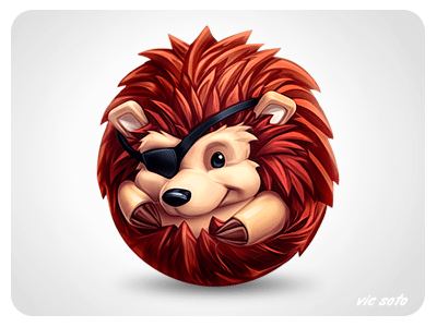 3D Hedgehog Character Icon