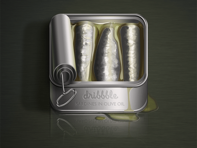 3D Canned Fish Icon