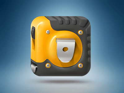 3D Tape Measure Icon