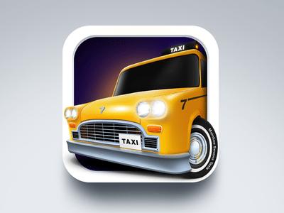 3D Taxi Icon