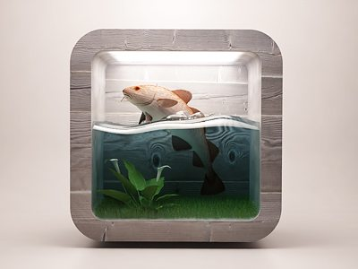 3D Fish Tank Icon