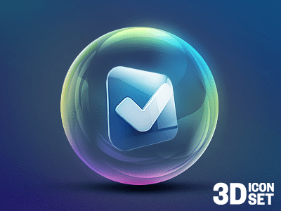 3D Check Mark Icon