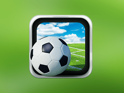 3D Football Icon