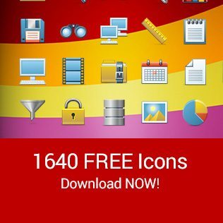 free icon pack - 1640 unique icons
