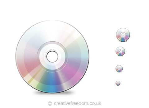 Free Disc Icon, could be used to represent a Music, Software, CD, DVD or Blu-Ray icon.
