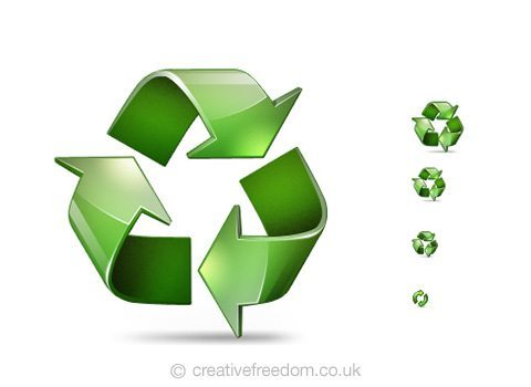 Free Recycle Icon, could be used to represent Recycle or Sustainability Icon