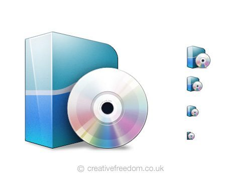 Free Software Icon, could be used to represent Install Software or Download Software Icon.