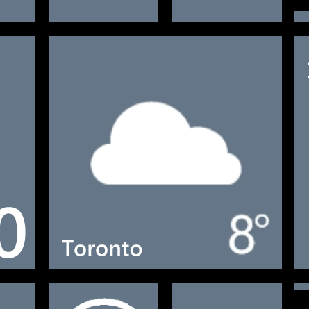 Windows Phone Weather App Tile