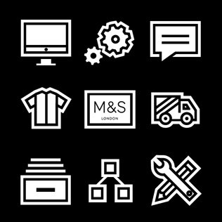 Flat icons for M&S