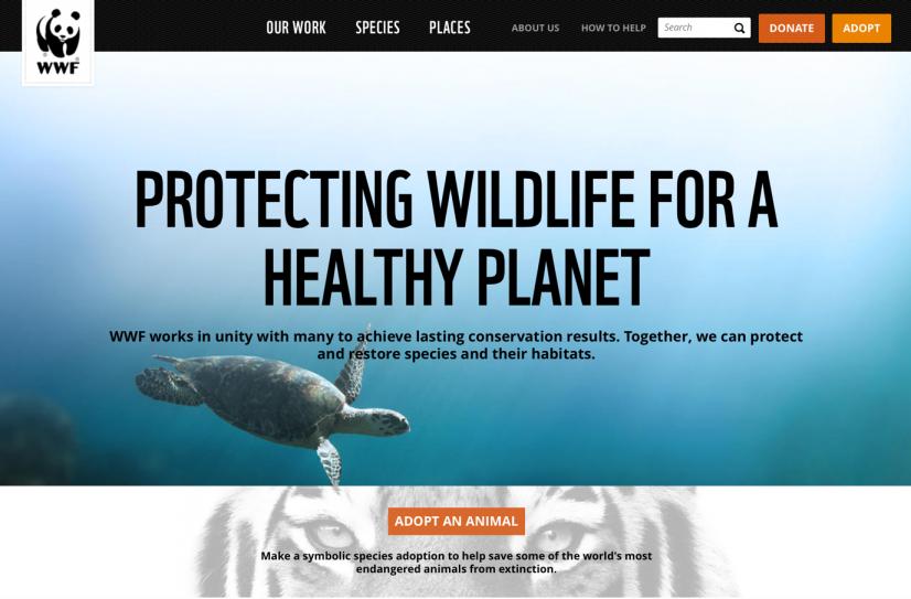 WWF homepage