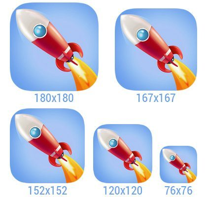 iOS 9 icon sizes