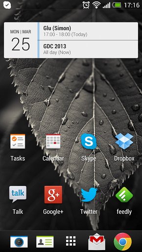 HTC One interface