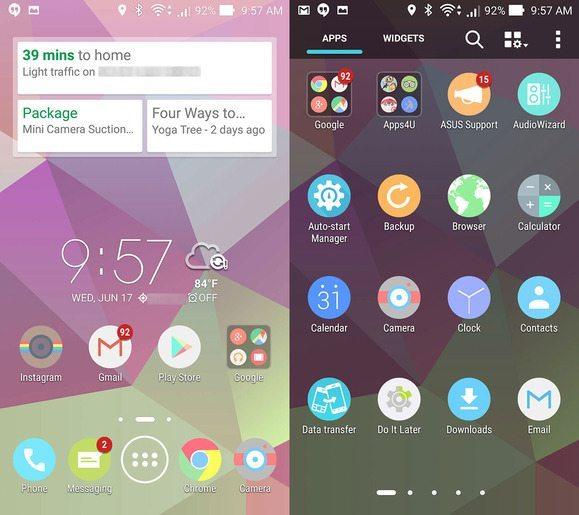 Asus Zenfone icons