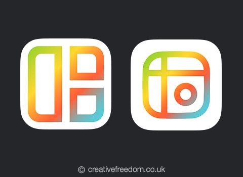 Mixgram iOS App Icon Shortlist Dark BG