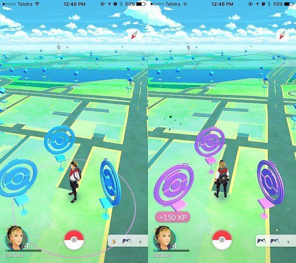 Pokestops interface