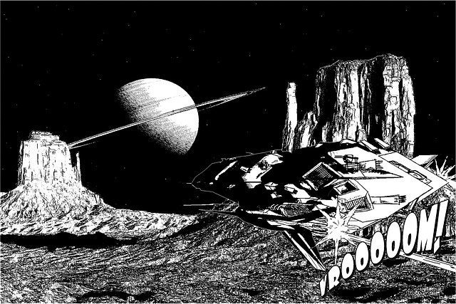 Black and white comic frame