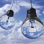Light bulbs in the sky