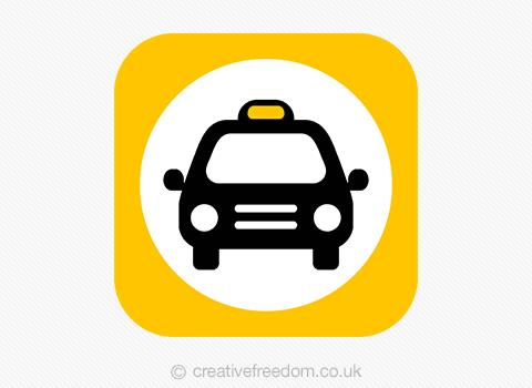 Taxi App Icon Design
