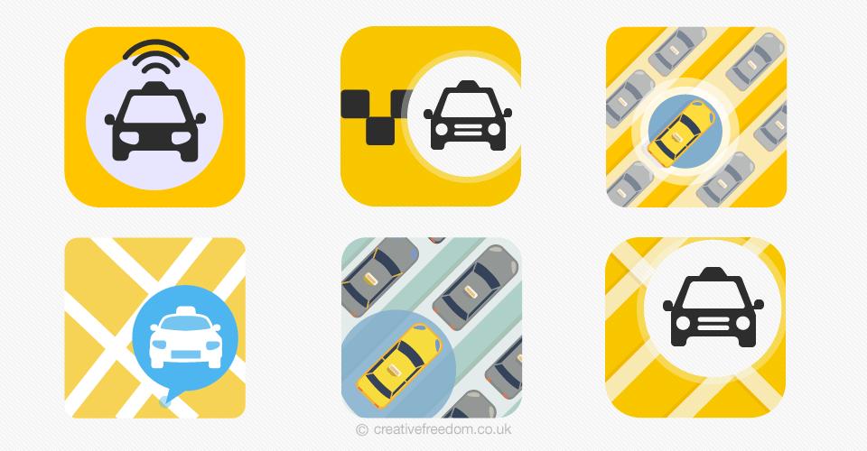 Taxi App Icon Designs