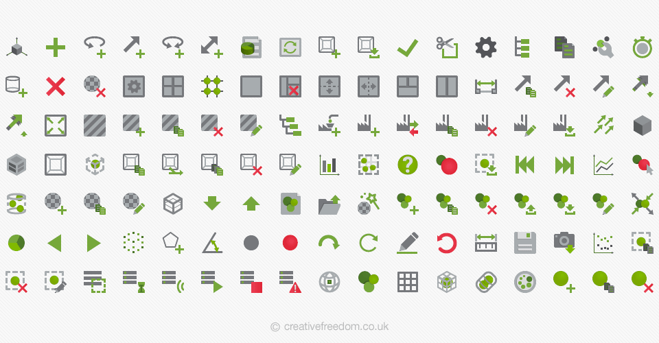 DEM Software Icons for EDEM