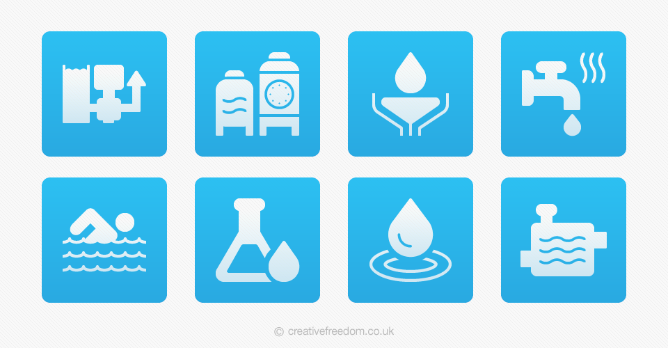 Water Treatment Icons for Aqualogic