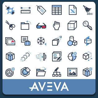 Cad icon project for Aveva