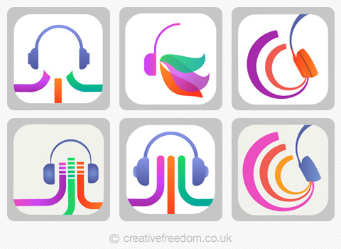 Music App Icon concepts