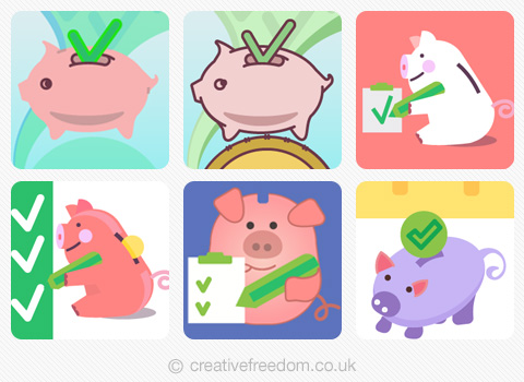 Piggy Bank iOS App Icon concepts